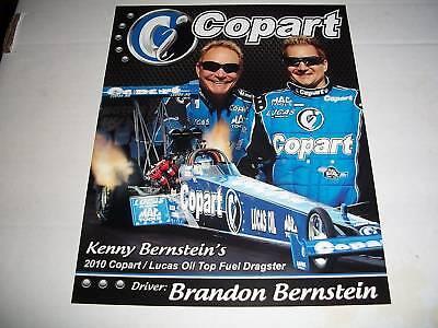 Brandon Bernstein 2010 Copart Nhra Handout Postcard