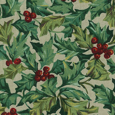 Longaberger Get Together Basket American Holly Fabric Oe Liner