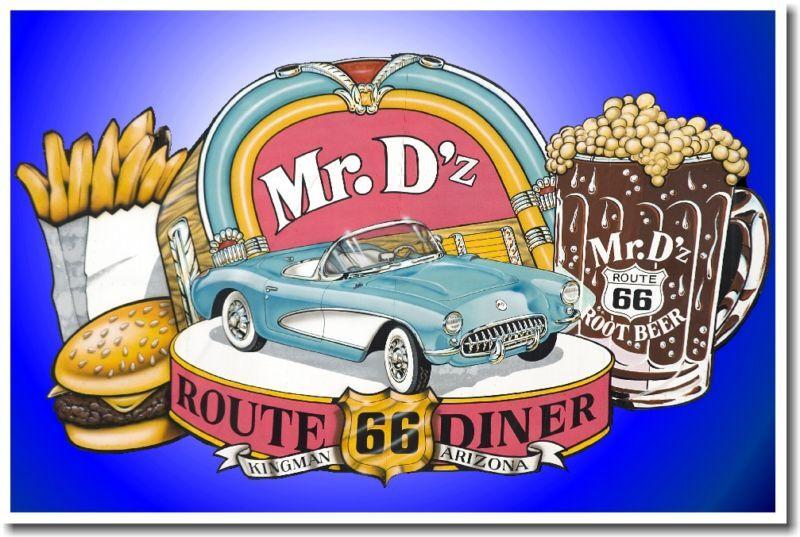 Mr Dzs Route 66 Diner Kingman Arizona Print Poster Ebay