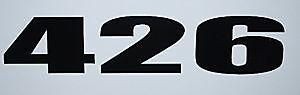 Mopar Engine Size Decals 426 Wedge Hemi Gasser A/fx