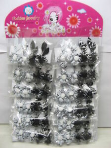 240pcs-Barrette-Hair-Clips-With-Flower-2-Colors