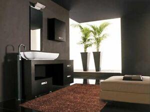 W401 tappeto moderno per bagno shaggy marrone cm 75x155 ebay - Bagno marrone e beige ...