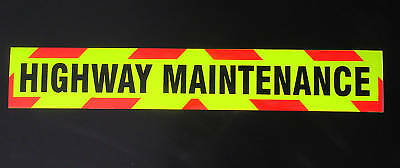 Magnetic Highway Maintenance Fluorescent Warning Sign