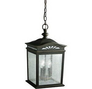 KICHLER-RUBBED-BRONZE-HANGING-EXTERIOR-LIGHT