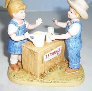Home Interiors Homco Denim Days Fresh Lemonade 15351 99: eba home interior figurines