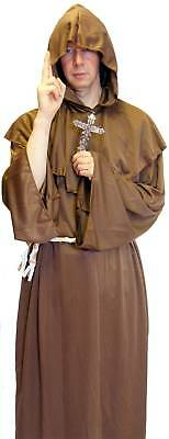 Fancy Dress Medieval Monk With Silver Cross All Sizes