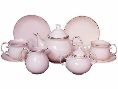 PRINCESS PINK CHILDS FINE CHINA TEA PARTY SET CHILDREN FACTORY SECOND on Rummage