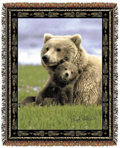 67x53-BEAR-Cub-Wildlife-Nature-Tapestry-Throw-Blanket