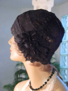 1920s-Hat-Flapper-Cloche-Hat-Modern-Millie-GREAT-GATSBY-BLACK-LACE-CUTE-ON