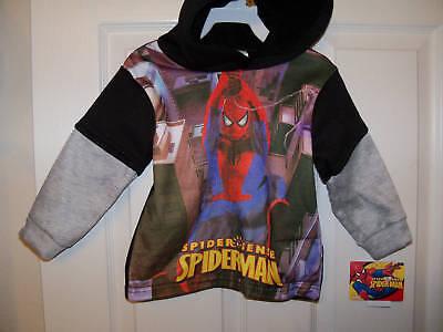 Spiderman Hoodie Long Sleeve Shirt Boy Size 3t