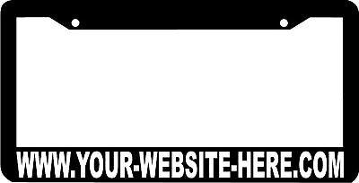 Custom Personalized Website License Plate Frame