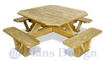 Traditional Picnic Table with 2 Benches - Picnic Tables at Picnic