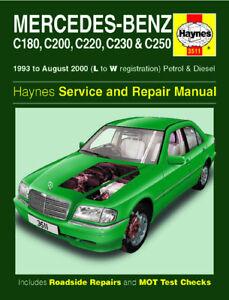 mercedes c180 c200 c220 c230 c250 haynes manual 3511 ebay rh ebay com 2000 Mercedes-Benz C240 Mercedes-Benz 2000 C230 Kompressor Interior