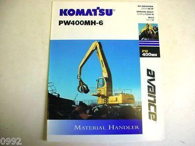 Komatsu Pw400mh-6 Material Handler Excavator Brochur