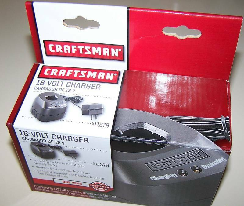 Craftsman 18v Cordless Drill Battery Charger 11379 1426101 18 Volt