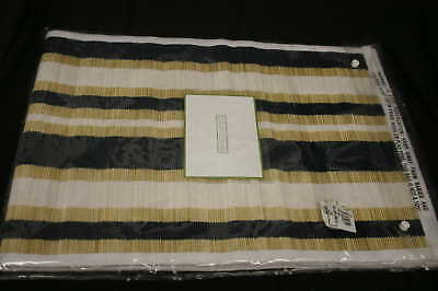 Colin Cowie Nautical Stripe Straw Table Runner 13 X 72
