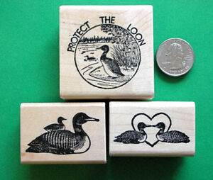 Protect-the-Loon-3-piece-Rubber-Stamp-Combo