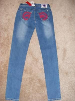 $59 Marc Ecko Red Pockets Stretch Skinny Jeans 3/4