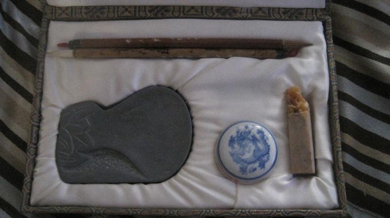 Rare Oriental Calligraphy Set