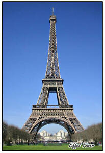 EIFFEL TOWER, PARIS FRANCE - JUMBO FRIDGE MAGNET - NEW