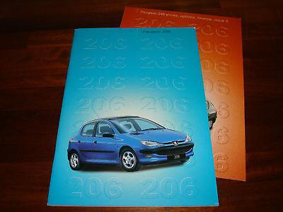 PEUGEOT 206 GB LAUNCH VENTAS FOLLETOS - FECHA SETIEMBRE/NOVIEMBRE 1998