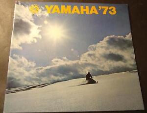 1973 LARGE YAMAHA SNOWMOBILE SALES BROCHURE NICE