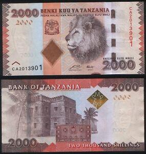 Tanzania-NEW-2000-Shillings-Shilingi-2010-2011-UNC