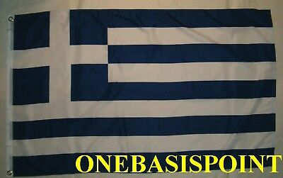 3'x5' Greece Greek Flag Outdoor Indoor Banner Hellas Athens Hellenic Huge 3x5
