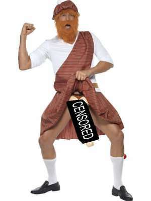 Herren Gut Verkrönter Hochländer Scotsman Verkleidung Kostüm M 96.5-102cm By
