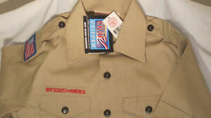 BSA-Boy-Scout-Uniform-Shirt-Mens-Small-NEW-w-tags