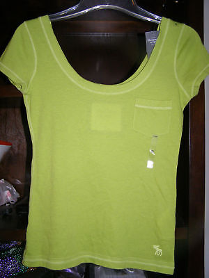 Abercrombie Xs Scoop Ribbed Neck Shirt Was$34