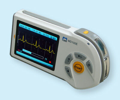 Md100e Handheld Ecg Monitor,color Screen W/ Resuable Adult Limb Clamp Electrode