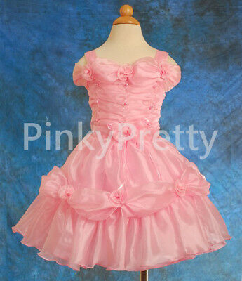 PROMOTION-Organza-Birthday-Formal-Dress-Flower-Girl-Party-Kids-Size-1y-9y-FG029