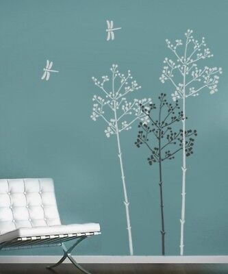 Going To Seed Wall Stencil - Large Reusable Floral Wall Stencils - Not Decals
