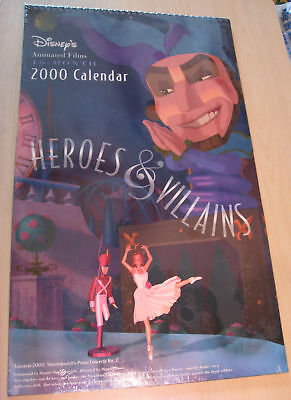 "Disney's Heroes & Villains 16-month 2000 Calendar - Large 19"" x 11 1/2"""