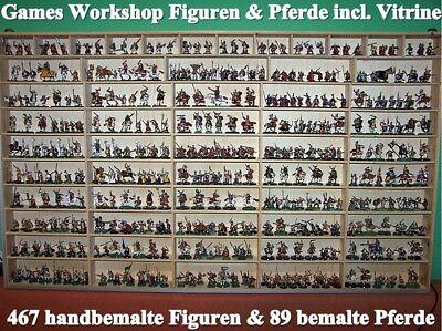 467 handbemalte Figuren + 89 Pferde von Games Workshop Tabletop Figuren #