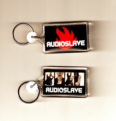 AUDIOSLAVE Rage Against The Machine Acrylic DBL SIDED Music Keychain KEY CHAIN