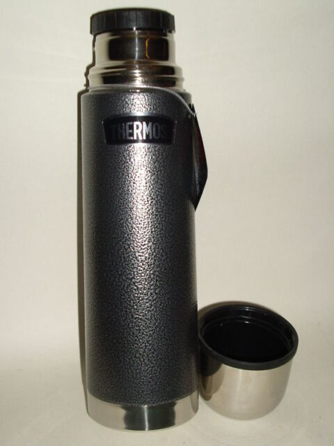 New Thermos Hammertone Grey Flask Stainless Steel 0.5L