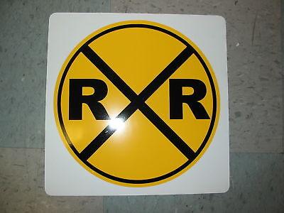 Railroad Crossing Rr Metal Sign Model Train Rail Road