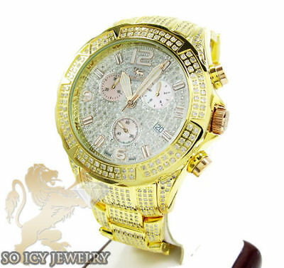 Icelink Jacob & Co Diamond Mens Yellow Watch 7.00ct