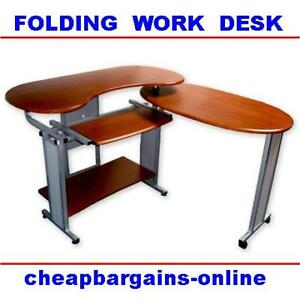 COMPUTER OFFICE STUDY DESK TABLE WORK STATION FOLDING  eBay