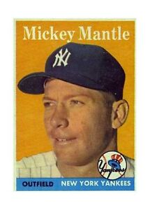 1958 Topps Mickey Mantle New York Yankees 150 Baseball Card