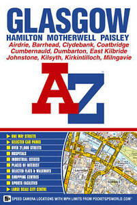 """AS NEW"" Geographers A-Z Map Company, Glasgow Street Atlas, Paperback Book"