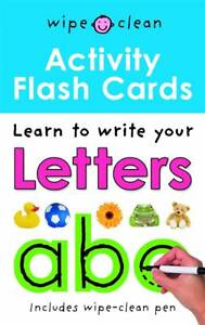 Wipe Clean Activity Flash Cards ABC, 1843328895, New Book