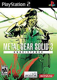Metal gear solid 3: subsistence (sony playstation 2, 2006) | ebay.