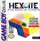 Hexcite: The Shapes of Victory (Nintendo Game Boy Color, 1998)