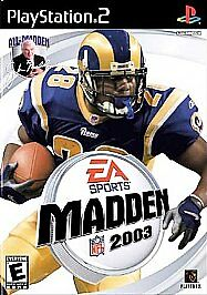 Game-Madden-NFL-2003-Sony-PlayStation-2-PS2-Excellent-Condition