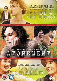 AtonementAge Of InnocencePride amp Prejudice New DVD - Cheshire, United Kingdom - AtonementAge Of InnocencePride amp Prejudice New DVD - Cheshire, United Kingdom