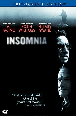 Insomnia DVD only ( Al Pacino, Robin Williams, 2002, 1 Disc) Read Details! 1