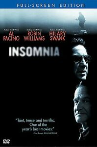 Insomnia (DVD, 2002, Full Screen) Robin Williams Christopher Nolan NEW SEALED 1